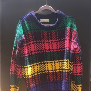 Urban outfitters plaid sweater
